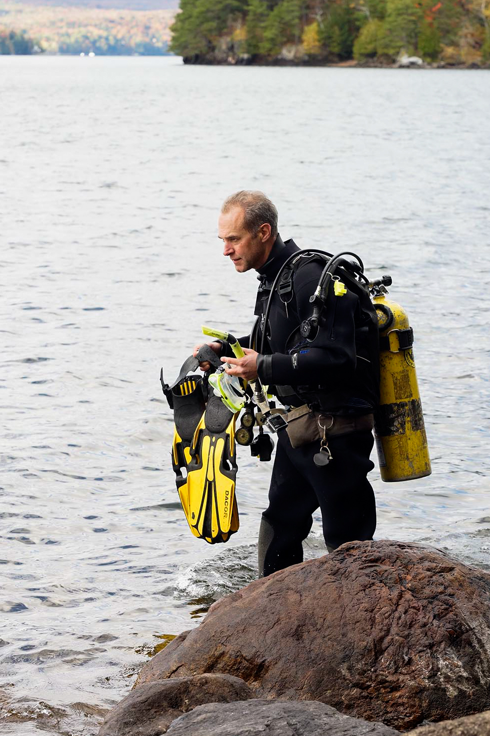 Scuba in Lake Memphremagog